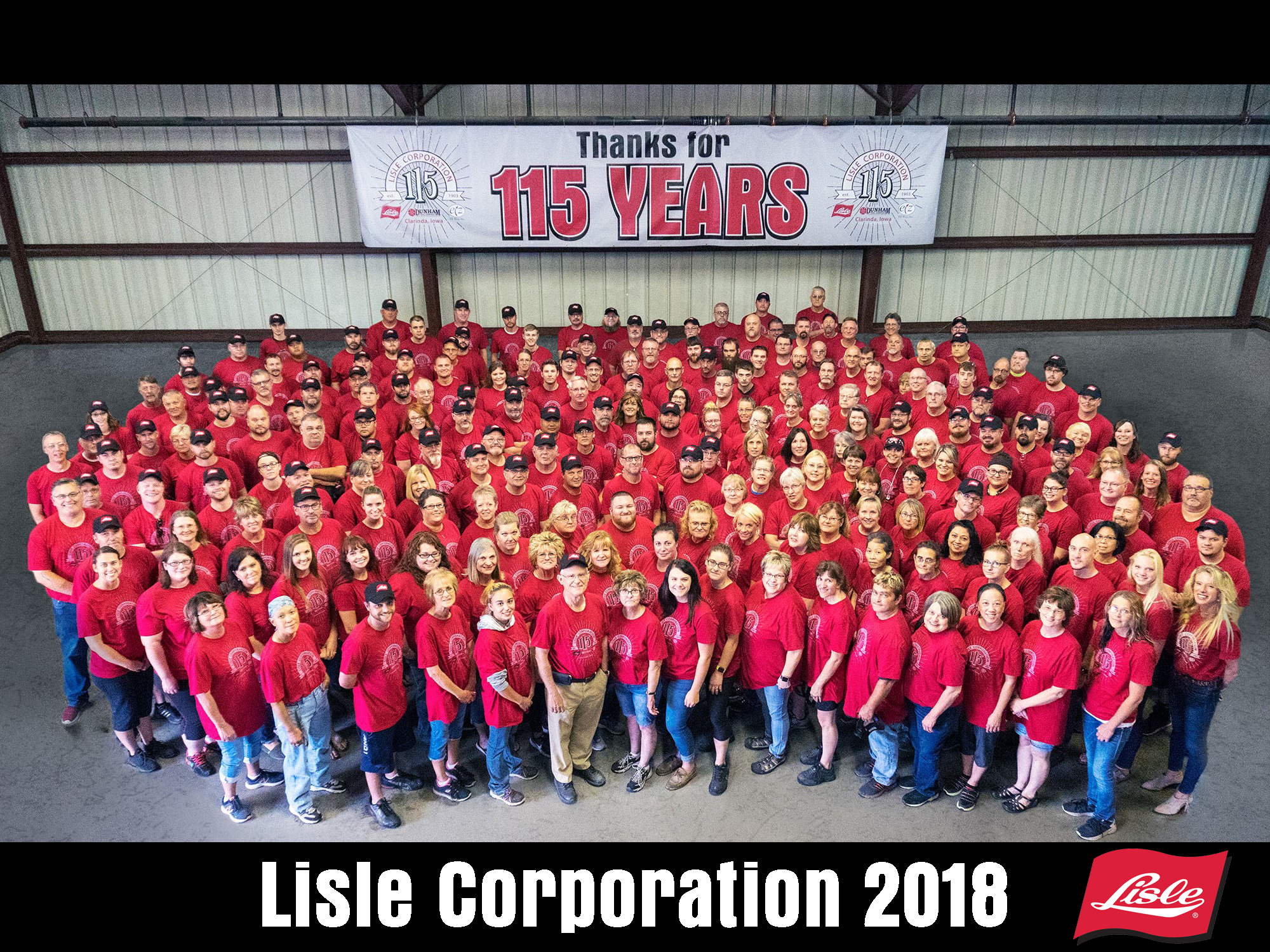 Photo of Lisle employees in 2013
