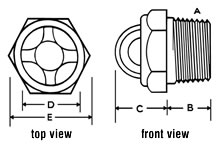 Domed View gauge drawing