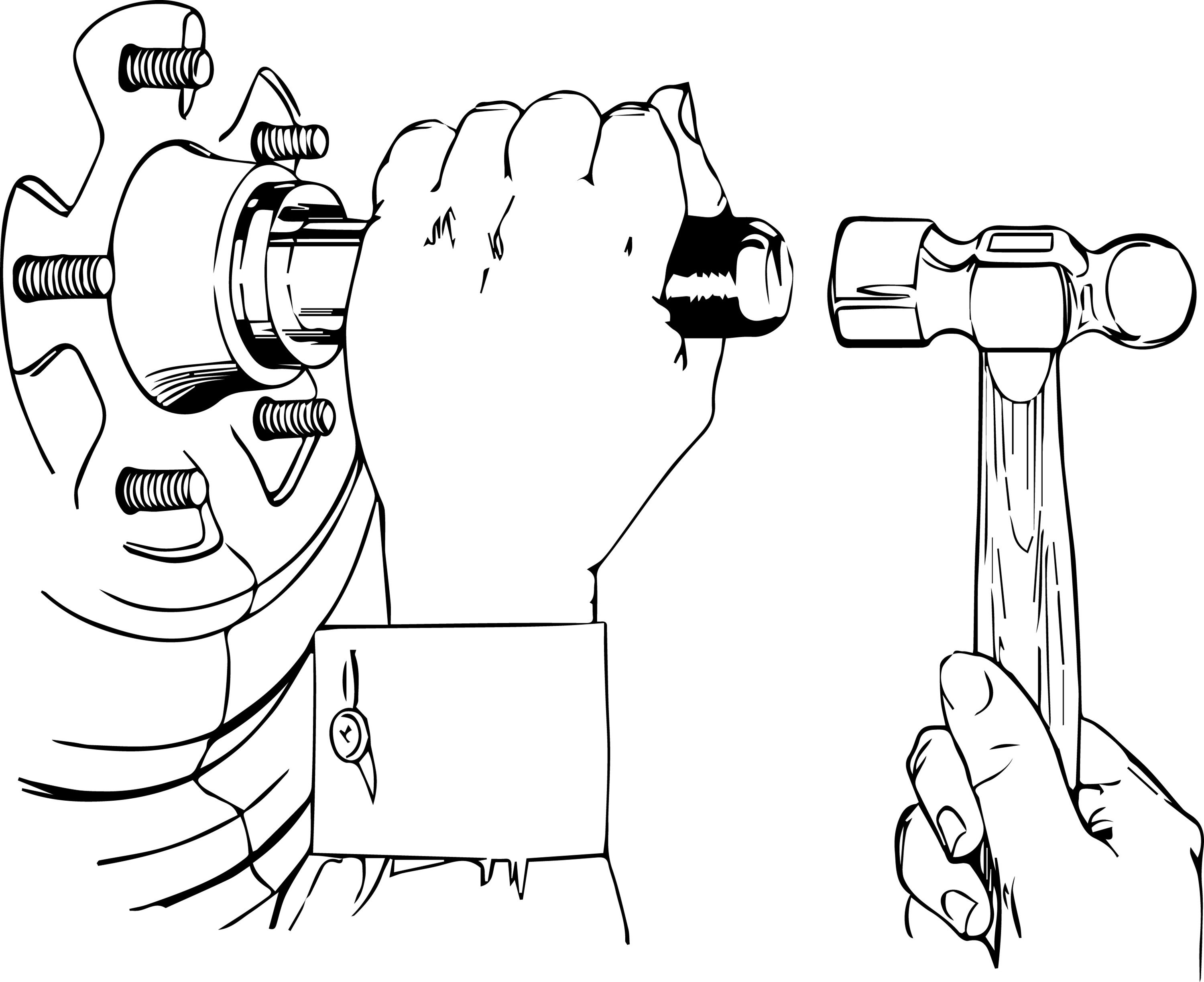 Lisle 12820 Pneumatic Handle for Bearing Race and Seal Driver Set