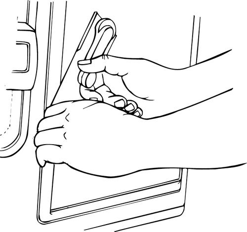 Lisle 18600 Window and Door Clip Remover Installer Tool