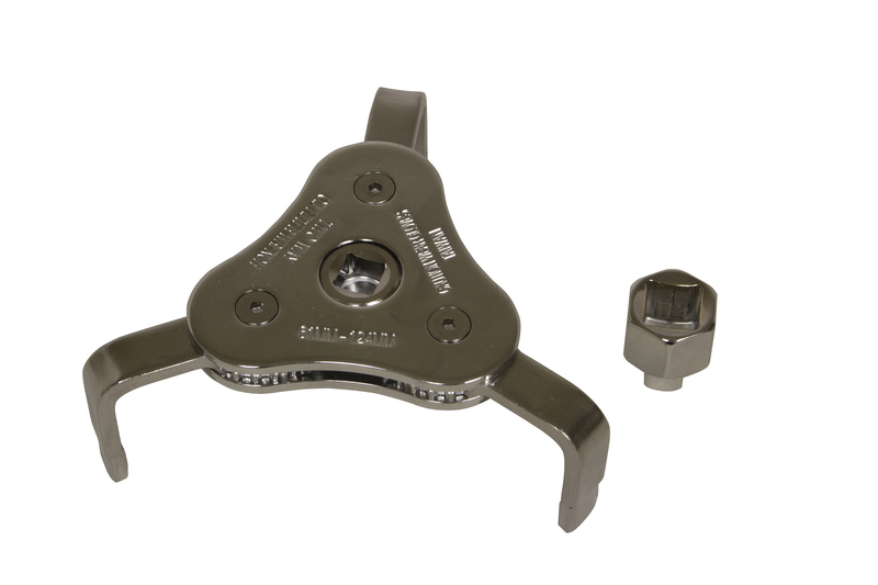 63830 61-124mm 3 Jaw Filter Wrench with Adapter